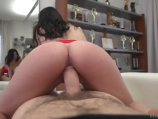 Amazing Hungarian nympho Emily Brix rides strong cock be advisable for lewd Rocco