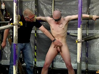Cock with an increment of ball torture with kinky gay lovers Sebastian Kane with an increment of Oliver Wyatt