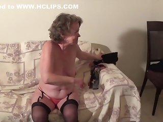 Amateur, Brunette, Mature, Old, Slut, Stockings,