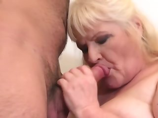 granny gets cuni coupled with sex from hungry chum