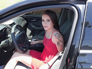 Sexy ass girlfriend Kharlie Stone rides a dick of a stranger