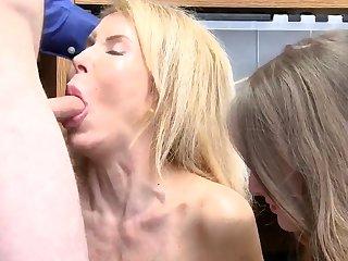 Blond mom evil-smelling masturbating Suspects grandmother was