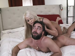 MILF domme uses her sex attendant for her own pleasure