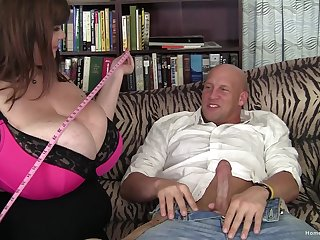 BBW wife sucks a large dick with the addition of gets fucked hard from behind