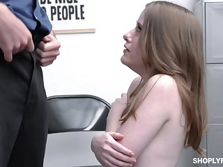 Alice Merchesi is a slutty shoplifter who is well haughtiness for her blowjobs and wet pussy