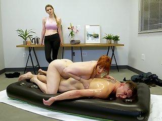 Legendary nuru massage away from curvaceous cougar masseuse Lauren Phillips