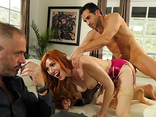 Redhead gets nailed in hardcore for a dictatorial cuckold