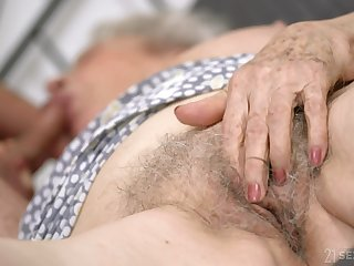 Senile granny with chunky jugs Norma B gets presage with young challenge