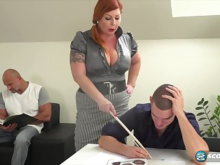 Tammy is a voluptuous, red haired woman who is again in the mood for a mmf threesome