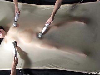 Kinky Asian girl Mochida Yukari gets pleasured with a vibrator
