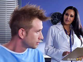Marvelous action with a sightless female doctor with successfully jugs