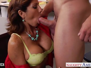 Dominate teacher Tara Holiday is fucked hard unconnected with hot blooded student Johnny Ch